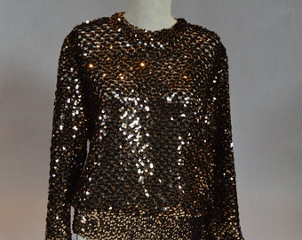 Partique Golden Sequin 'Let's Go Out Tonight' Top