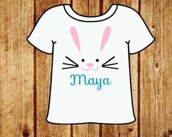 Easter shirt. Children's Easter shirt. Personalized shirt. Personalized Easter shirt. Bunny shirt. Bunny name shirt. Easter bodysuit.