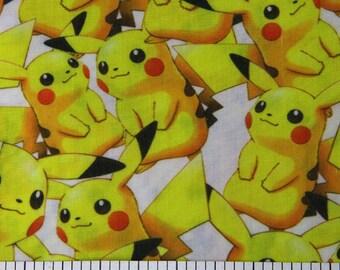pokemon pikachu fabric