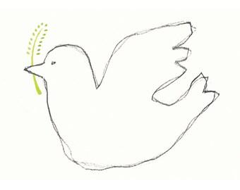 Peace Dove - Fine Art A6 Postcard