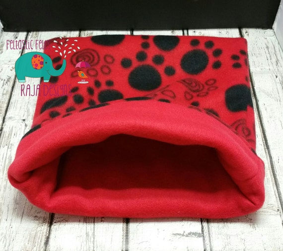 Guinea Pig Bed Fleece Cozy Cup Snuggle Sack Cuddle Cup Paw