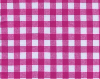 """1/2"""" Gingham in Berry- Checkers by Cotton + Steel"""
