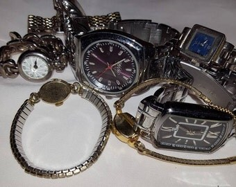 Vintage Watch lot,Wyler,Vulcain,Relic,Fossil Watches/working and non working.