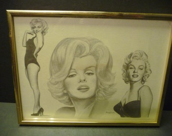 50% OFF-Three Poses of Marilyn Monroe in black and white - Michael Irvin 86' - Framed