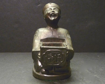 Brass Cone Incense Burner ~ Asian Man