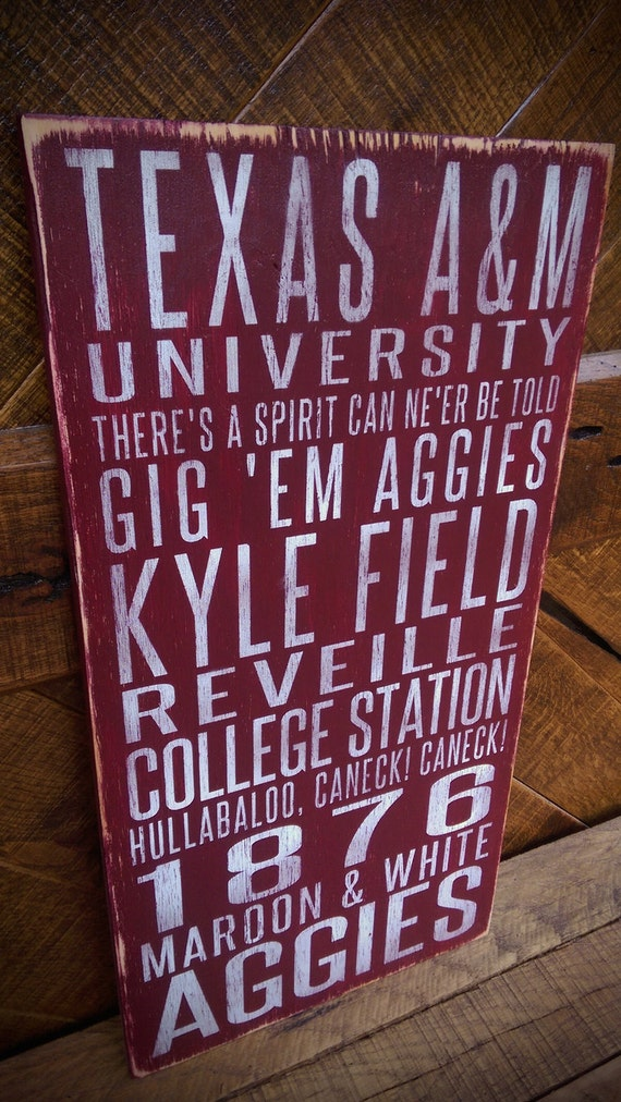 Texas A Amp M Aggies Distressed Wood Signgreat Father S Day
