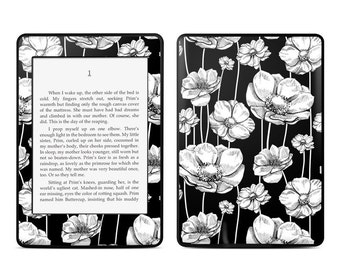 Amazon Kindle Skin - Striped Blooms by Nicole Tamarin - Sticker Decal - Fits Paperwhite, Fire, Voyage, Touch, Oasis
