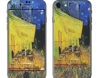 Cafe Terrace At Night by Vincent van Gogh - iPhone 7/7 Plus Skin - Sticker Decal