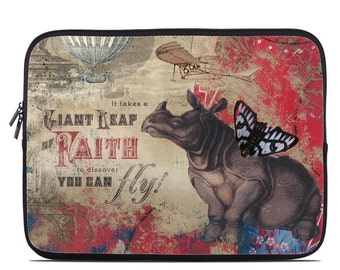 Laptop Sleeve Bag Case - Leap Of Faith by Duirwaigh Studios - Neoprene Padded - Fits MacBooks + More