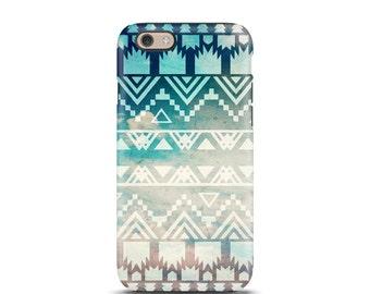 iPhone 7 case, iPhone 7 Plus case, iPhone case, iPhone 5s case, iPhone 5 case, iPhone 7 Plus case tough, tough iphone case - Aztec
