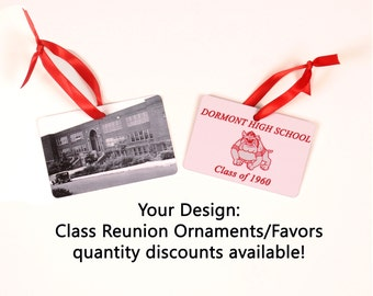 Class Reunion Favors, Class Reunion Ornaments - Quantity Discounts Available