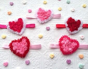 The Rosy Heart Headband or Hair Clip- Choose One