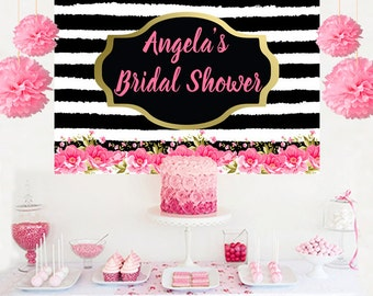 Bridal Shower Personalized Banner, Bride to Be Cake Table Backdrop - Wedding Backdrop