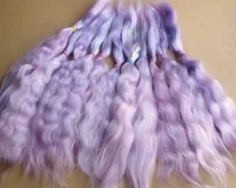Combed mohair / Doll Hair / Combed mohair for doll hair/Blythe Doll hair/Art Dolls/
