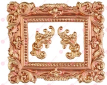 Frame silicone mould (mold) - 'Picture Frame (large)' by FPC Sugarcraft   resin mold, fimo mold, polymer clay mold, soapmaking mold C203