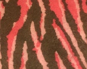 SHOP CLOSING SALE - Pink And Brown Zebra Print Felt Fabric Sheets Craft Felt