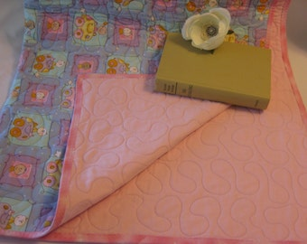 Driving in Cars Baby Quilt, Cars, Pink, Purple, Mint, Babies,  Handmade Quilt, Nursery Bedding, Cotton, Flannel