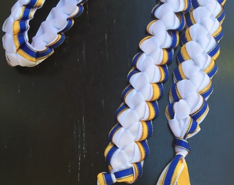 Layered Ribbon Cord or Lei Hand-Crafted with Satin Ribbon (Perfect for graduations, birthdays, weddings, and more)