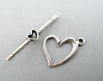 Delicate Heart Toggle Clasp