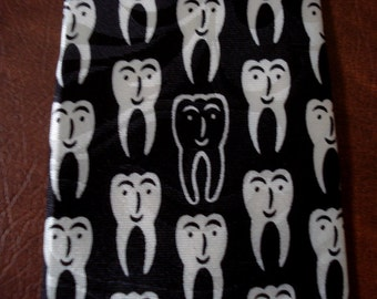 ONE BAD TOOTH Dentist Tie Men's Necktie Doctor Orthodontist Teeth Funny Gift Father's Day Teacher Toothbrush
