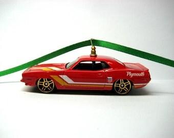 1970 Plymouth AAR Cuda Hot Rod Mopar Muscle Car Hot Wheels Ornament