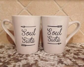 Soul Sista duo mugs, Soul Sister set