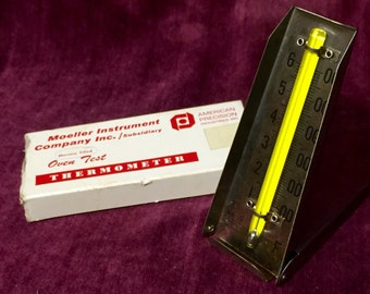 Vintage Oven Thermometer - Moeller - Folding w/ box