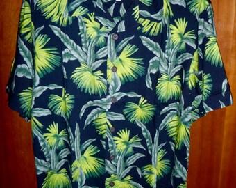 Hawaiian Aloha Tropical Shirt 100% Rayon Old Maui Brand