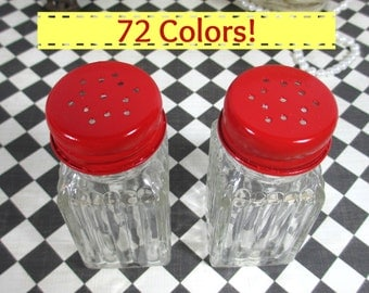 Salt & Pepper Shakers in Apple Red