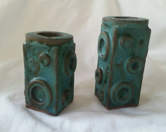 Funky clay candlesticks