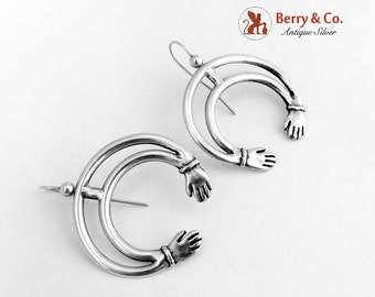 Celtic Style Earrings Sterling Silver