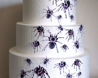 wedding cake toppers halloween cake topper edible spiders set of 24 diy cake decor