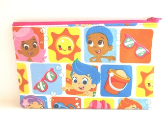Bubble Guppies Fabric Pencil Case // Bubble Guppies Birthday // Bubble Guppies Party Favor // Back to School