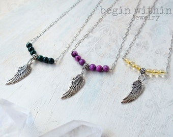 All 3 Archangel Necklaces / Michael, Gabriel, & Raphael Angel Wing Necklaces / Guardian Angel Jewelry