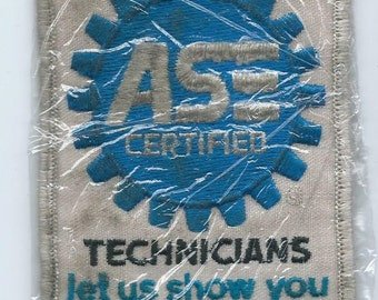 We employ ASE Automotive Service Engineer Certified Techicians let us show you their credentials mechanic patch 4-3/8 X 2-7/8