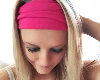 PICK YOUR COLOR Cotton Yoga Thick Headband Running