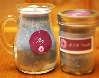 Sky Pitcher Unscented Soy Container Candle