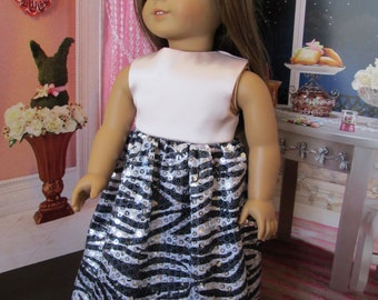 Fancy 18'' Doll Dress, Hand Made to Fit 18'' Dolls, Party Dress, Wedding Dress, Formal Dress, Fun Dress, Fancy Event Dress, Dress-up Dress
