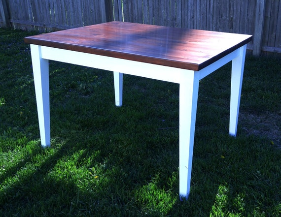 Farmhouse table country dining kitchen tapered leg bench