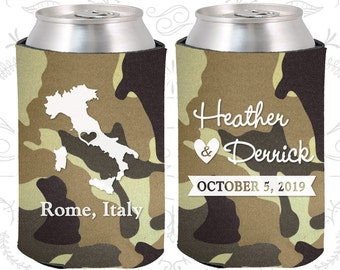 Camouflage Wedding, Can Coolers, Camouflage Wedding Favors, Camouflage Wedding Gift, Camouflage Wedding Ideas (181)