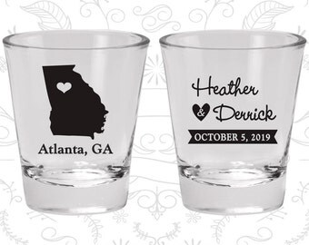 Georgia Shot Glass, Georgia Shot Glasses, Georgia Glass, Georgia Glasses, Georgia Glassware (109)
