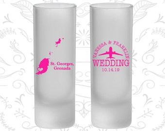 Grenada Wedding, Frosted Tall Shot Glasses, Destination Wedding, St George Wedding (178)