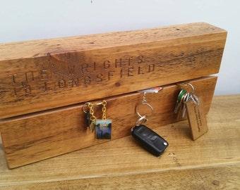 Personalised Rustic Farmhouse Key Rack