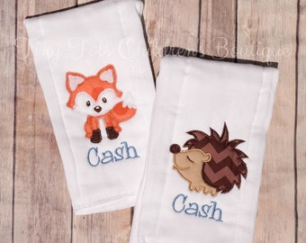 Set of 2 Personalized Burp Cloths - Monogram Baby Boy Burp Cloth Set - Embroidered Burp Cloth - Newborn - Baby Boy - Baby Shower Gift