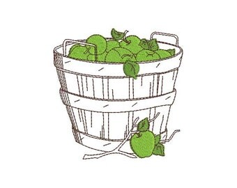 Instant Download Machine Embroidery  design apples