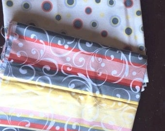 Red Rooster fabric bundle