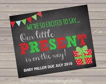 Christmas Pregnancy Announcement, DIGITAL FILE