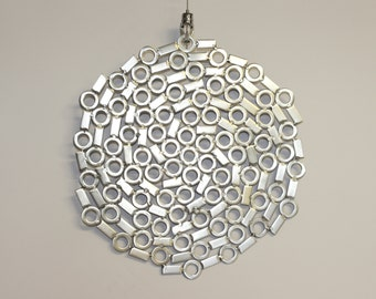"Stainless steel metal wall art ""All in a spin"""