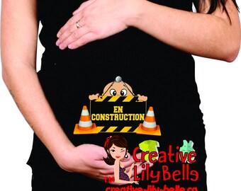 FUNNY MATERNITY SHIRT t-shirt under construction #cm235