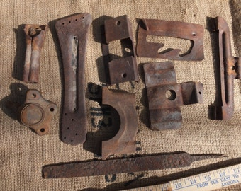 Rusty Pieces-for crafts, altered art, assemblage, rusty supplies